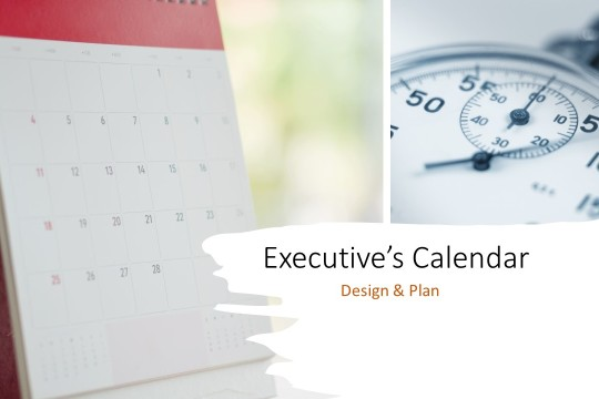 Managing Executive's Annual Calendar